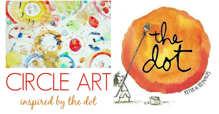 Circle Art for Kids Inspired by The Dot