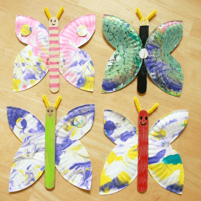 A paper plate butterfly craft an easy and creative idea for Butterflies for crafts and decoration