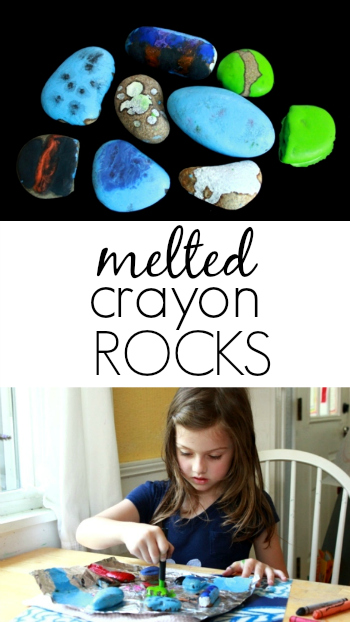 How to Make Melted Crayon Rocks with Kids