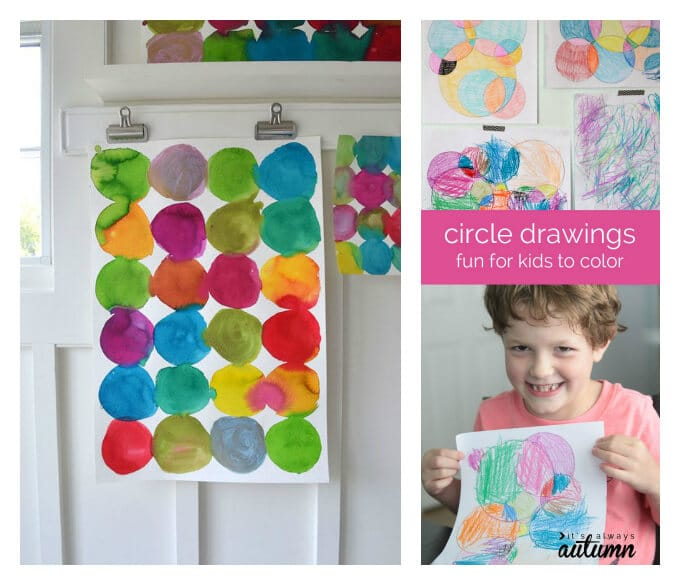 Circle Art For Kids – A Fun Processed Based Art Activity – circle drawings and paintings