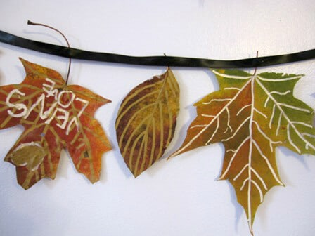 Make a Fall Leaf Garland