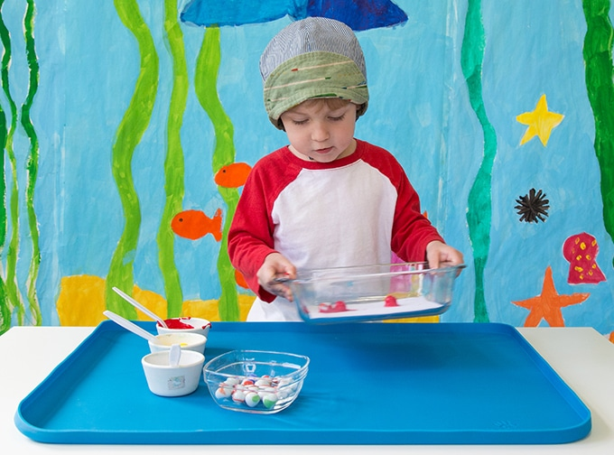 painting activities for preschoolers with marbles