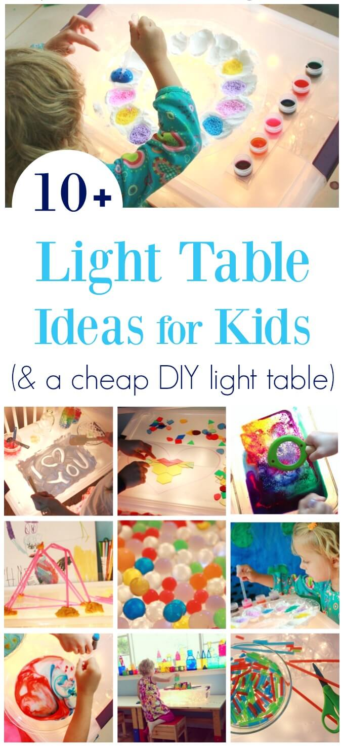 Light Table Activities :: 10+ Free and Low-Cost Ideas for Kids