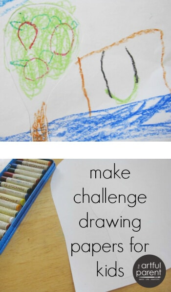 Make Challenge Drawing Papers for Kids