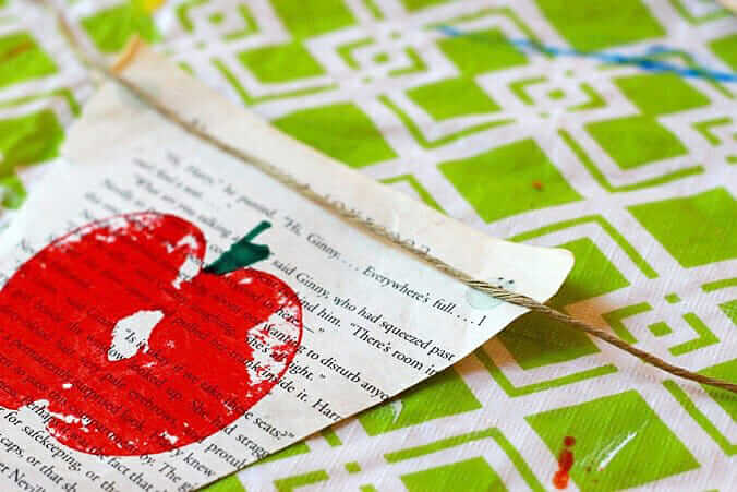 DIY Apple Bunting – A Simple Printmaking Activity