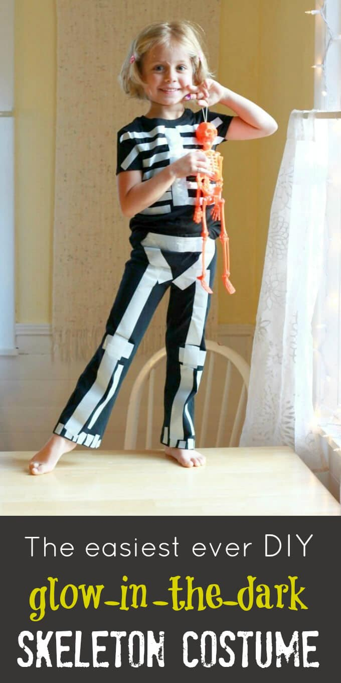 The easiest ever diy glow in the dark skeleton costume