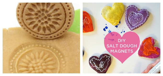 Things to Make with Salt Dough - Cookie Stamps and Salt Dough Magnets