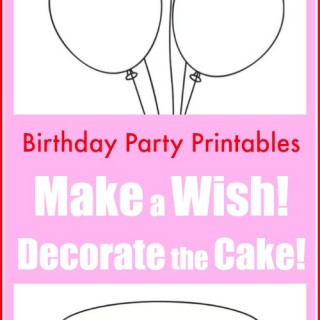 Birthday Party Printables for Kids to Decorate