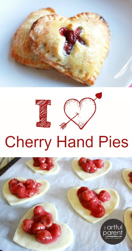 Cherry Hand Pies :: Little Heart Shaped Pies for Valentines Day