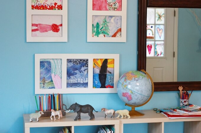 Kids Art Frames that make it super easy to display and change children's art