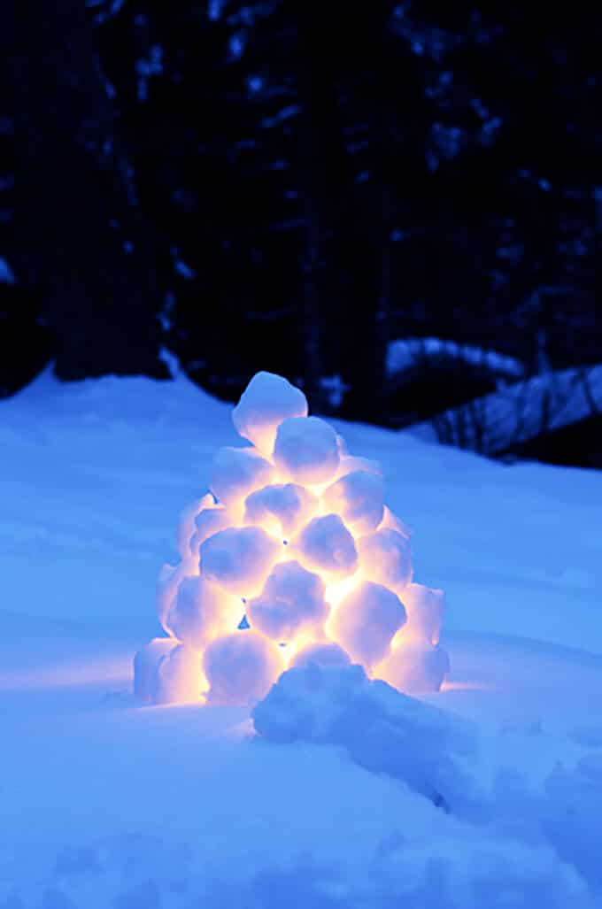 How to Make Swedish Snowball Lanterns