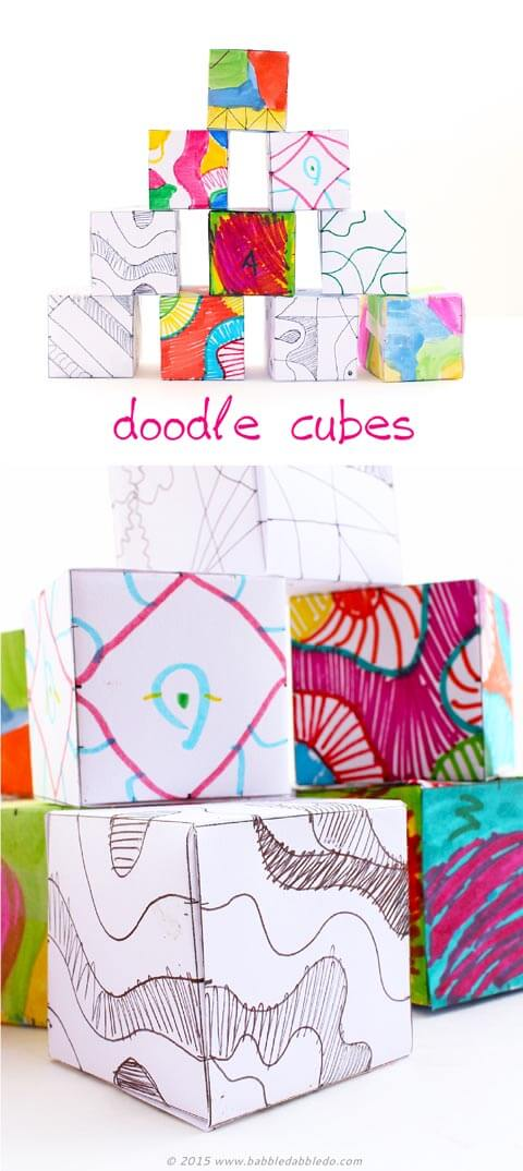 Doodle Cubes - Art Activity for Kids