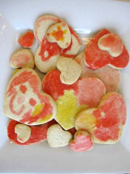 Painted Heart Cookies with Kids