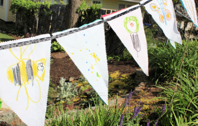 Wish flags for Garden Crafts for Kids