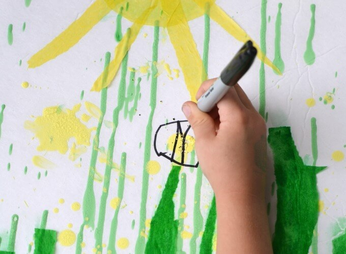 Gravity Painting Activity for Kids