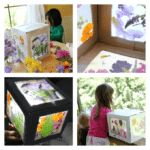 DIY CARDBOARD BOX NATURE SUNCATCHER