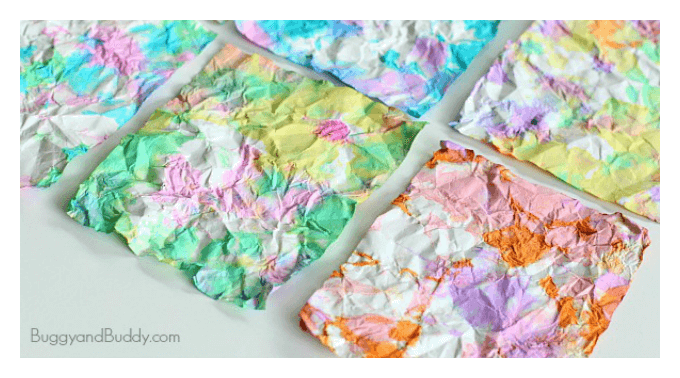 Crumpled Paper Kids Art Activity