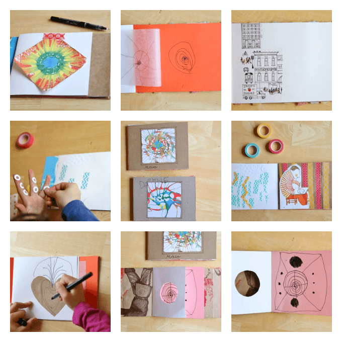 Diy art journals for kids made with recycled materials