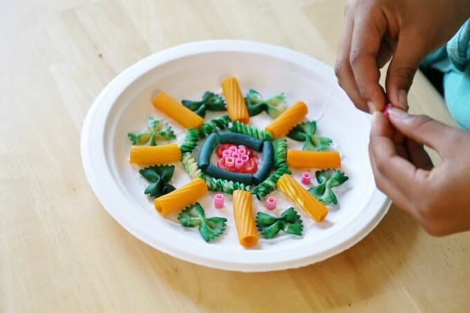 Mandalas and Pasta Art Activities for Kids