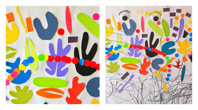 Matisse Inspired Collage for Kids