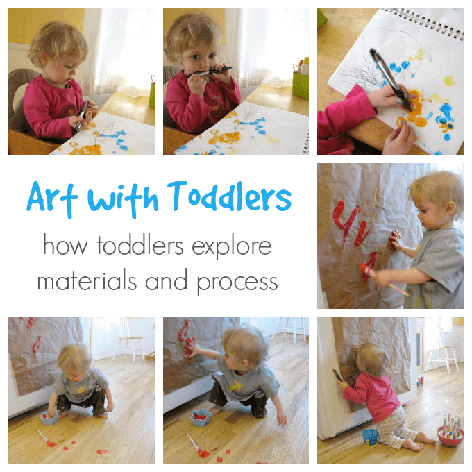 Toddler Art - Exploring Materials and Process