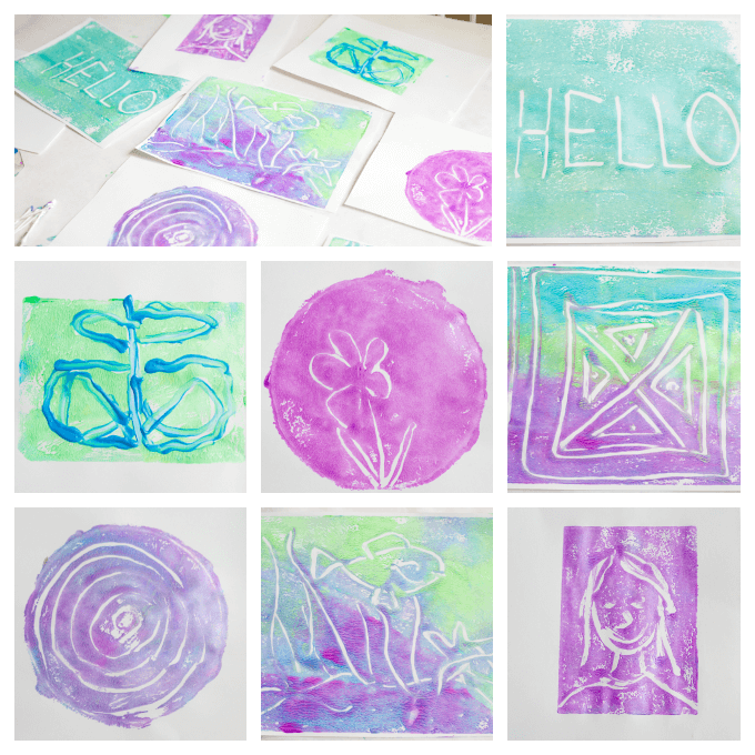 Monoprinting with Kids the Easy Way - Finished Prints