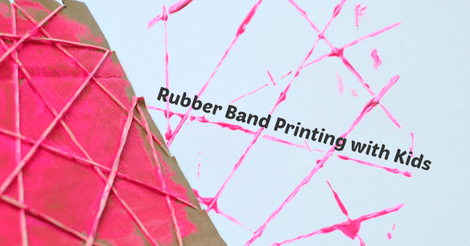 rubber band printing for kids - Kids Printing Paper