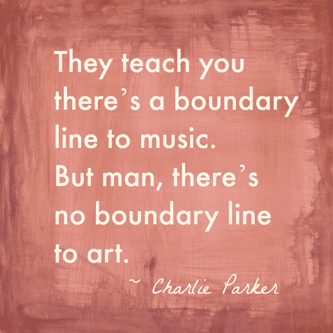 Charlie Parker Art Quote