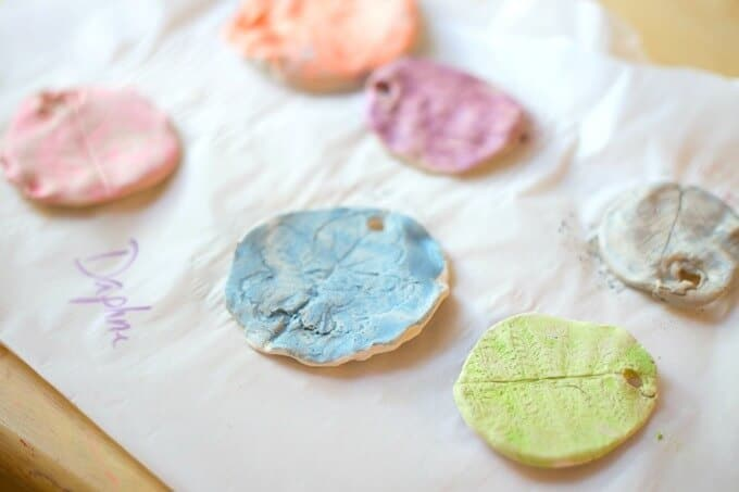 Daphne's Clay Leaf Prints
