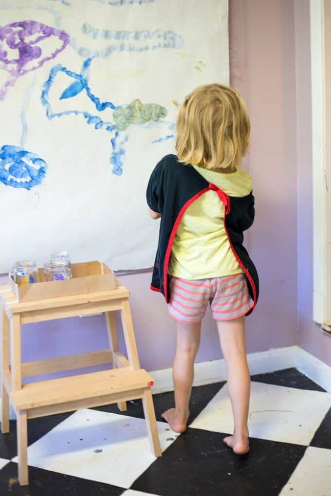 Drill Painting with Kids