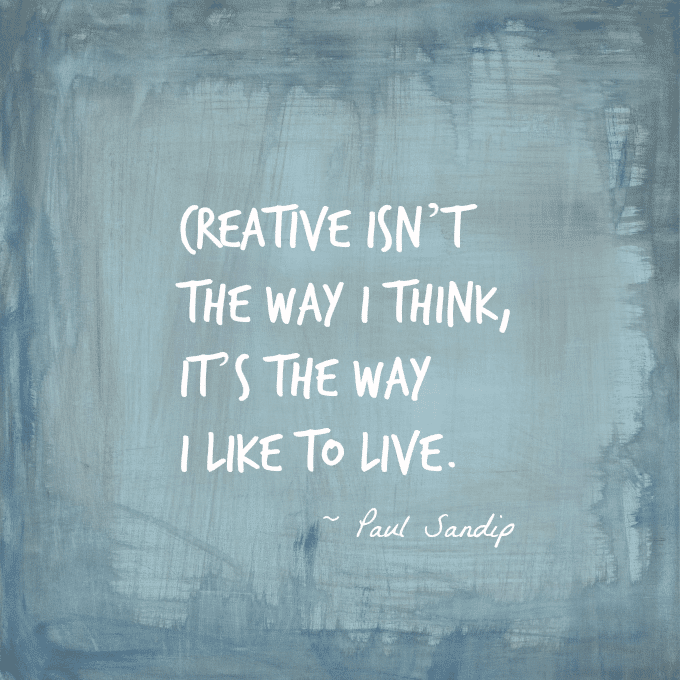 Live Creatively Quote