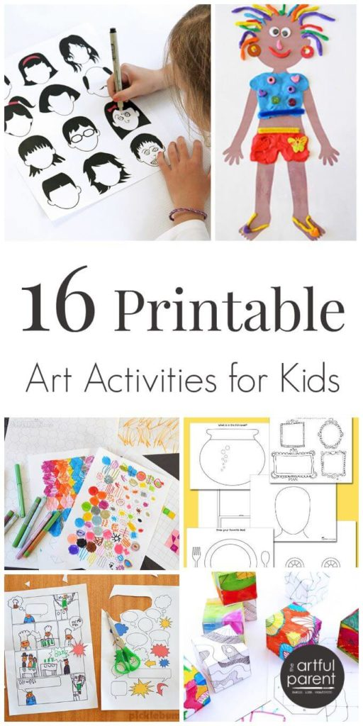 16 printable art activities for kids that encourage creativity - Printable Kids Activities