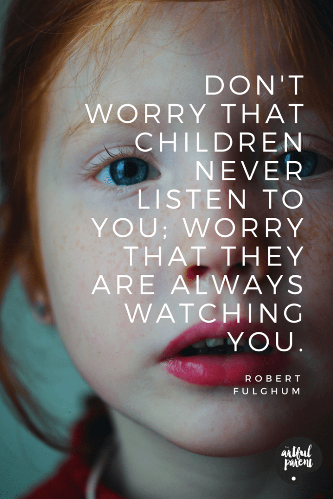Children Learning from Parents Quote by Robert Fulghum
