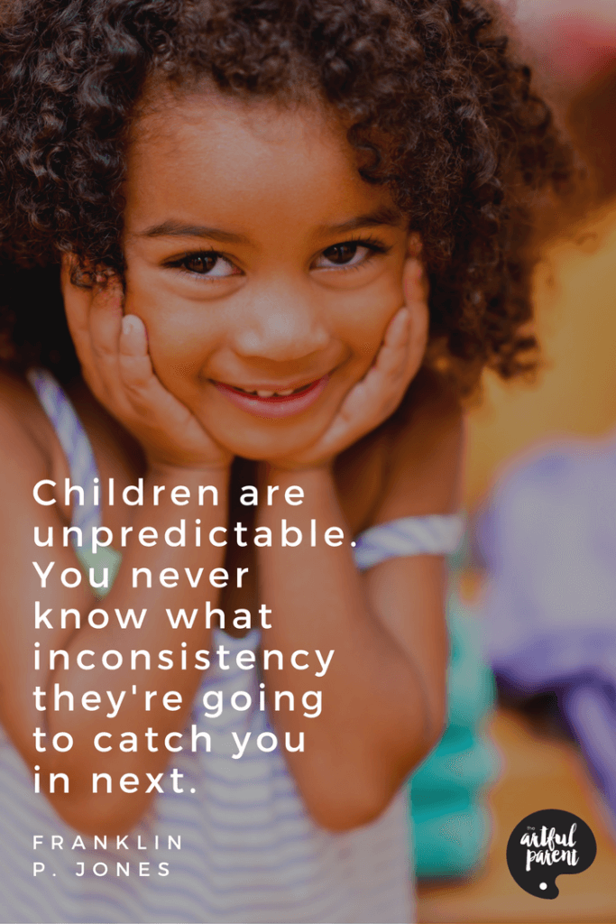 Children are Unpredictable Quote by Franklin P. Jones