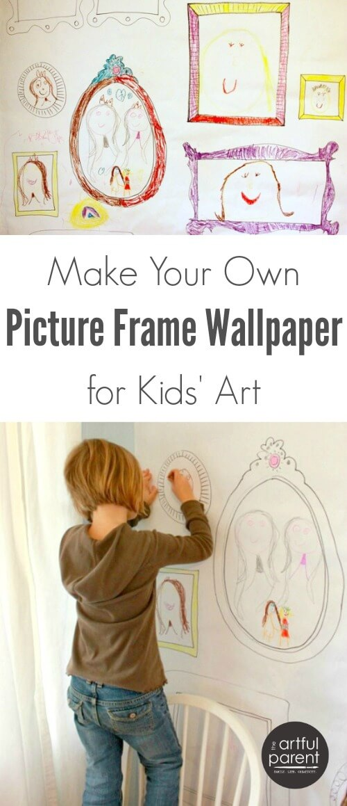 How to Make Your Own Picture Frame Wallpaper for Kids Art