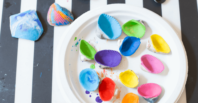 How To Make Colorful Melted Crayon Sea Shells With Kids
