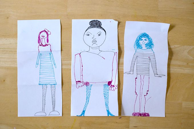 Playing The Exquisite Corpse Drawing Game with Kids