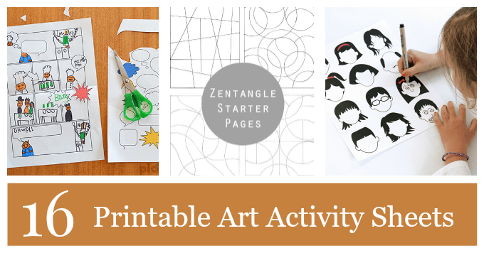 Printable Art Activity Pages for Kids