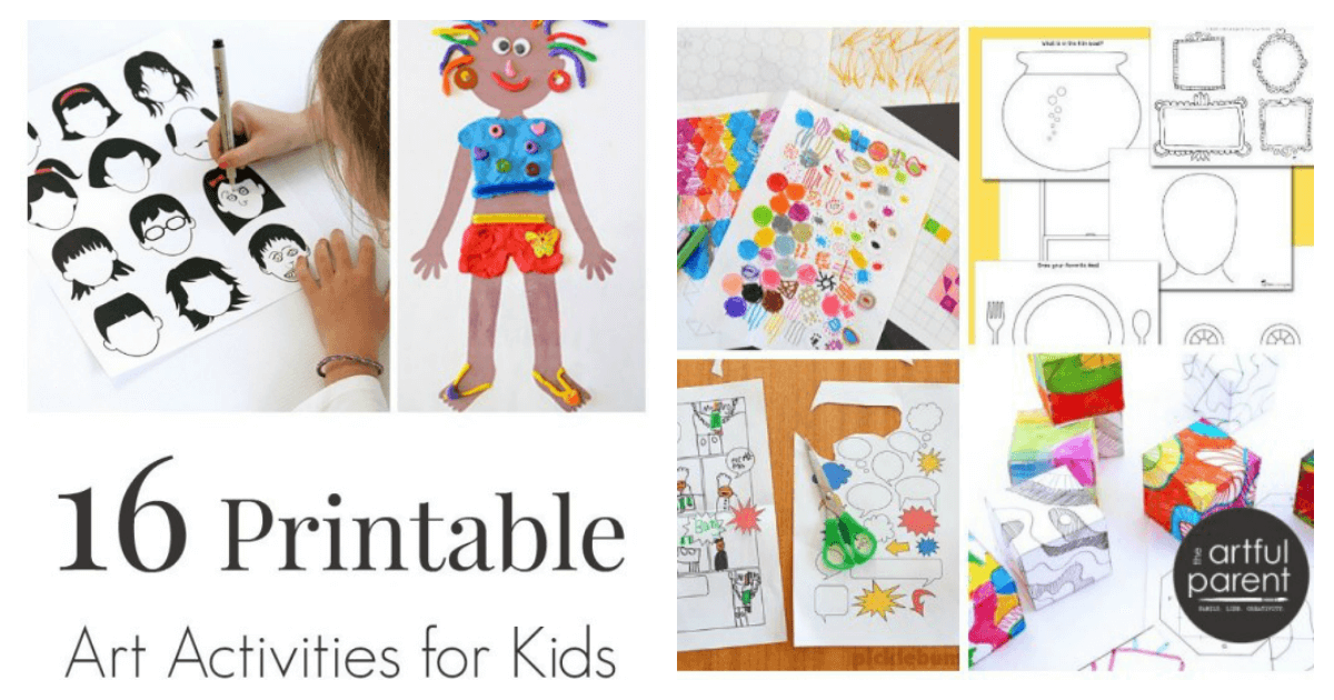 16 printable art activities for kids to encourage creativity