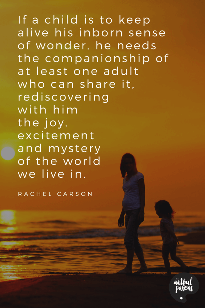 Rachel Carson quote about a child's sense of wonder about the world we live in