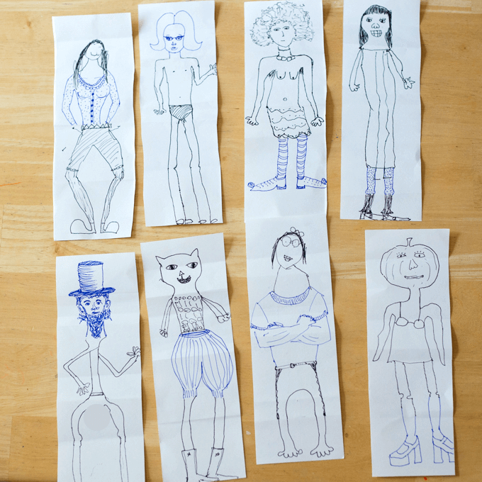 The Combination Man or Exquisite Corpse Drawing Game for Kids and Adults