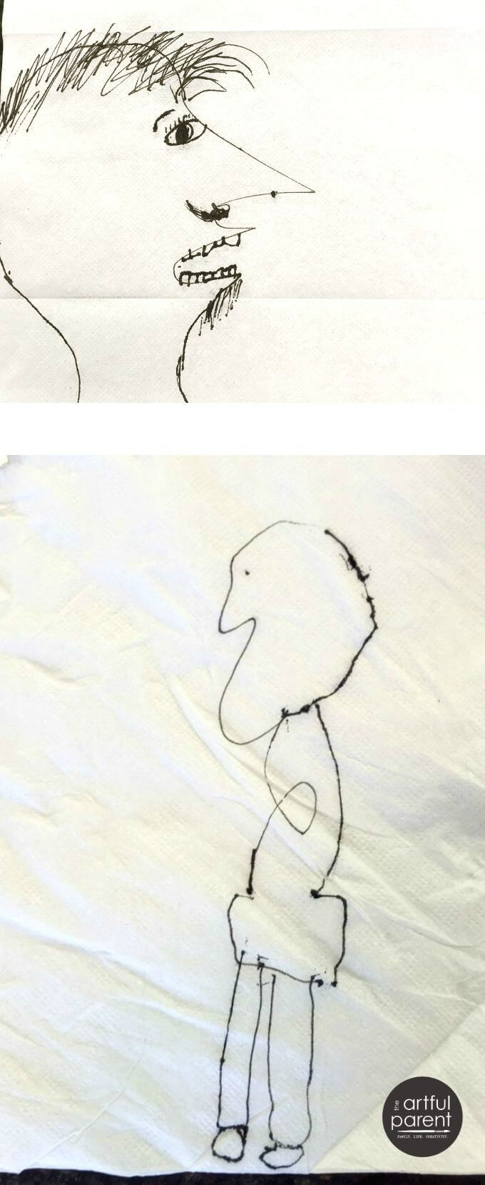 Playing the Scribble Challenge Drawing Game with Kids