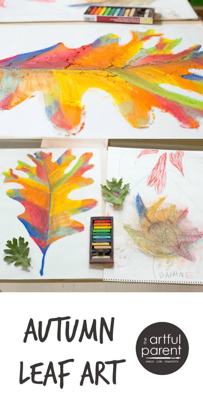 Autumn Leaf Art with Chalk Pastels