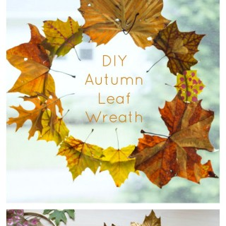 A Beautiful DIY Autumn Leaf Wreath