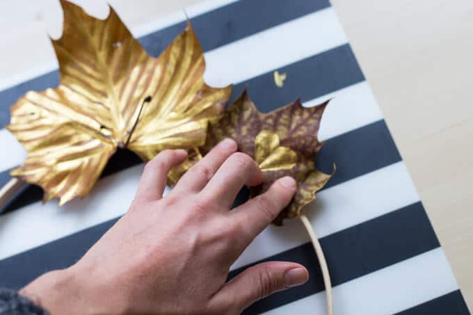 Create This Simple DIY Autumn Leaf Wreath For Fall - Assembling an Autumn Leaf Wreath