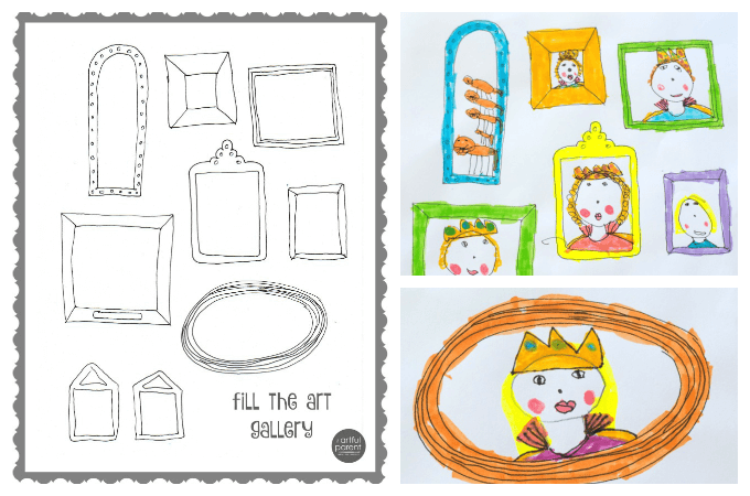 Frame Art Printable for Kids