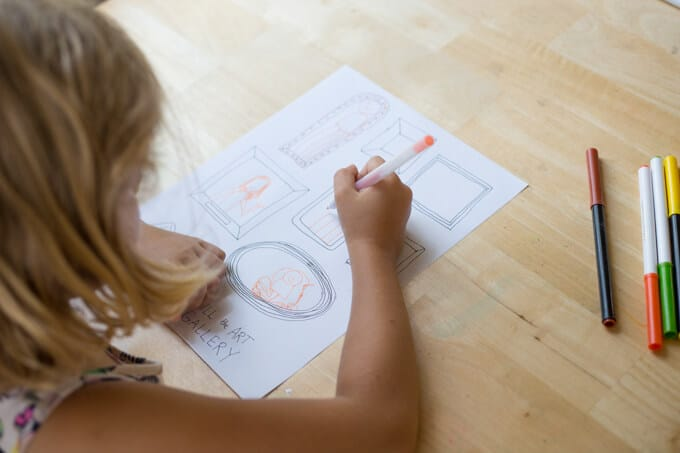 Frame Drawing Prompts for Kids