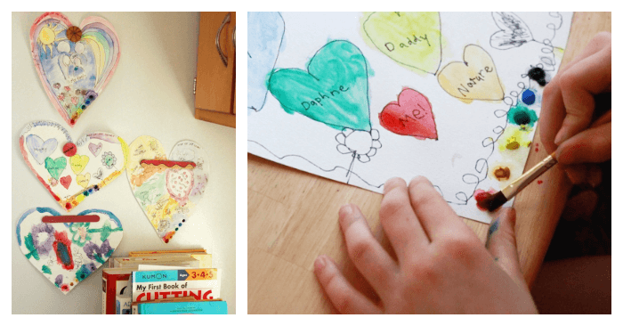 A Map of My Heart Art Activity for Kids