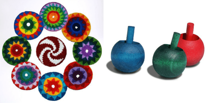 Cloth Frisbees and Spinning Tops
