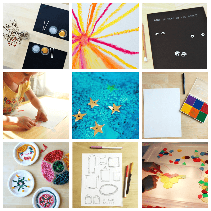 10 Simple Invitations to Create Art for Kids
